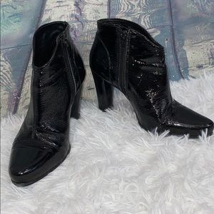 Pour la Victoire patent leather heel booties 7